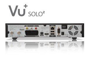 Die Anschlüsse auf der Rückseite des VU Plus Solo 2